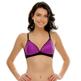 Padded Non-Wired T-Shirt Bra In Purple, , Bra Clovia Thailand