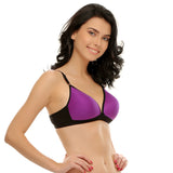 Padded Non-Wired T-Shirt Bra In Purple, 32B / Purple, Bra Clovia Thailand