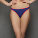 Bikinii In Blue With Neon Pink Trims, , Panty Clovia Thailand