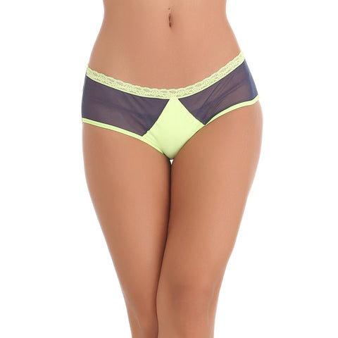 Blue Hipster With Contrast Waist and Front Lining, , Panty Clovia Thailand