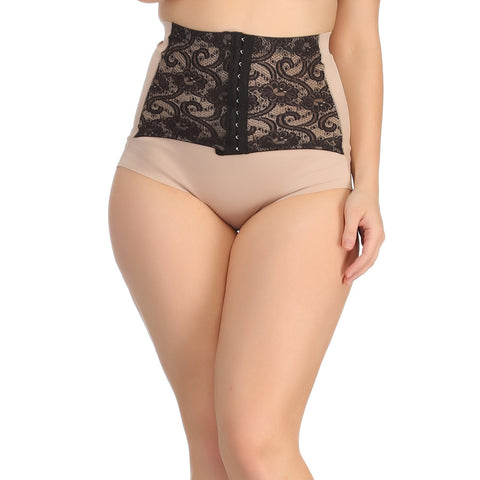 Tummy Tucker In Skin With Contrast Lacy Waist Cincher Girdle, , ShapeWear Clovia Thailand