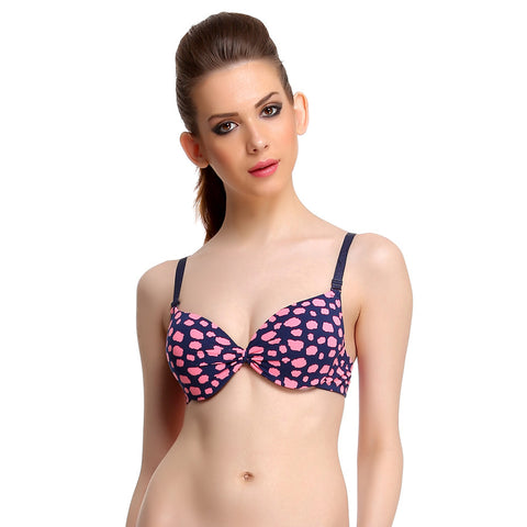 Polyamide Push-Up Bra In Pink With Detachable Straps, , Bra Clovia Thailand