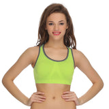 Racerback Padded Sports Bra In Green