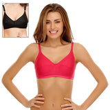 Set Of 2 Cotton Rich Non-Padded Full Support Bra, , Bra Clovia Thailand