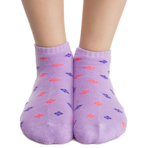 Short Ankle Socks In Lavender
