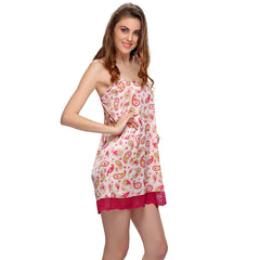 Short Nightdress In Wine