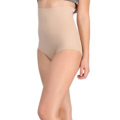 Seamless Tummy Tucker In Skin With Stitch Free Belt, 2XL / Nude, ShapeWear Clovia Thailand