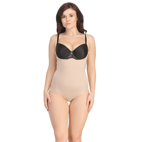 Body Suit In Skin With Detachable Straps, , ShapeWear Clovia Thailand