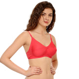 Cotton Rich Non-padded Full Support Bra In Pink, 32B / Pink, Bra Clovia Thailand