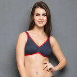 Cotton Non-padded Tshirt Bra In Grey, , Bra Clovia Thailand
