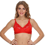 Fashion Lace Cups Non-padded Bra In Red, , Bra Clovia Thailand