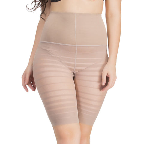 Waist Cincher In Skin With Striped Thigh Shaper, , ShapeWear Clovia Thailand