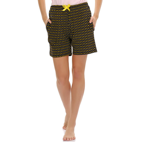 Sweetheart Printed Cotton Shorts, , sleepwear Clovia Thailand