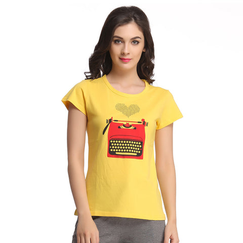 Trendy Graphic T-Shirt In Cotton, , Sleepwear Clovia Thailand