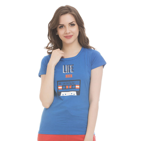 Trendy Graphic T-Shirt In Cotton, , T-shirt Clovia Thailand
