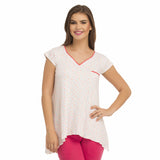 V-Neck Top With Short Sleeves - White, , T-shirt Clovia Thailand