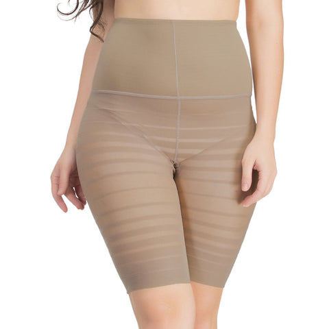Waist Cincher In Nude With Striped Thigh Shaper, , ShapeWear Clovia Thailand