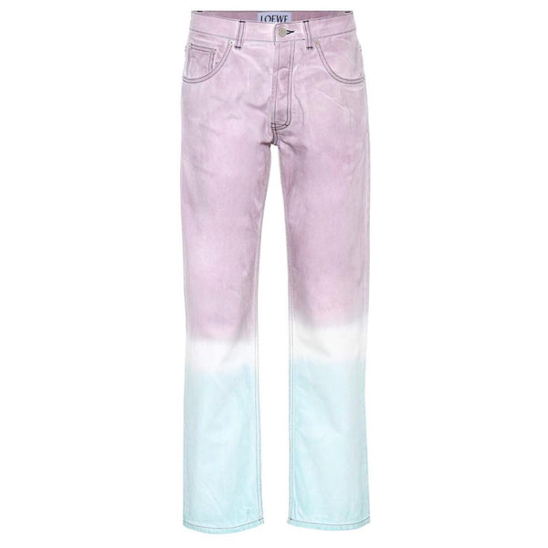 Loewe Pink Ombre Straight Leg Jeans