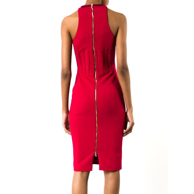 Antonio Berardi Red Corset Bodice Cocktail Dress