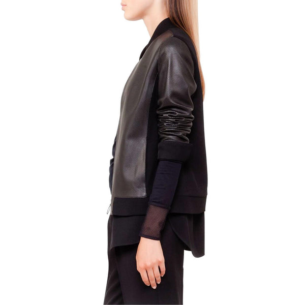 Akris Punto Black Perforated Jacket