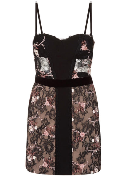 La Perla Black Hampton Court Cocktail Dress