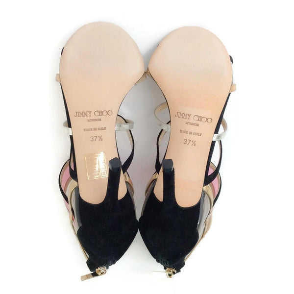 Suede and Acrylic Sandals by Jimmy Choo 37.5