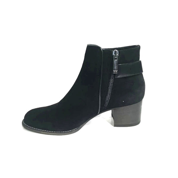 "Aquatalia Black Suede ""Tate"" Boots, interior side"