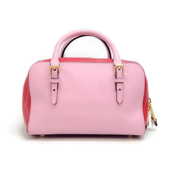 Pink Tassel Satchel by Moschino back