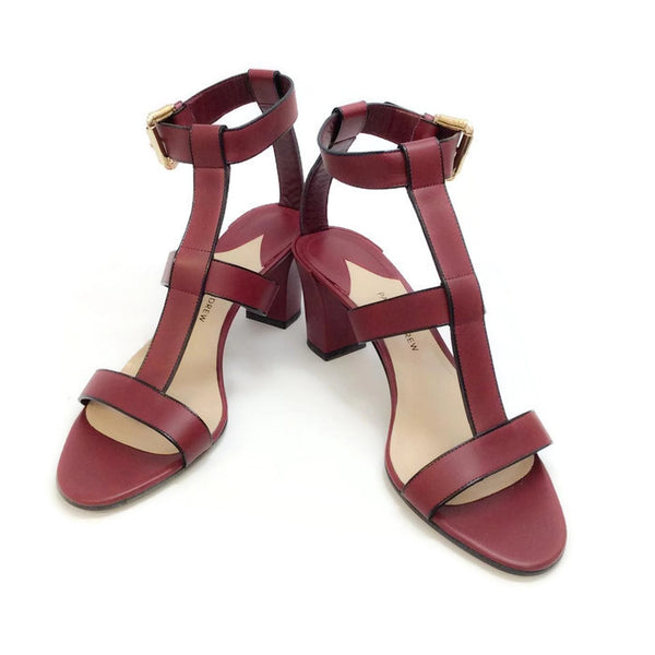 Salma Prune Sandals by Paul Andrew pair