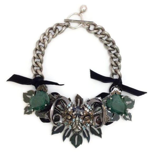 Jeweled Ram Necklace by Lanvin