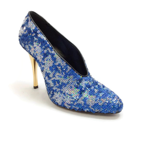 Sequin Blue Pump by Lanvin