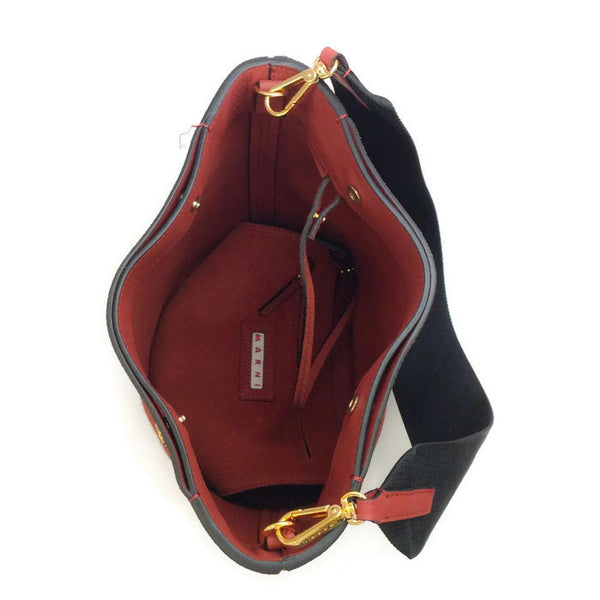 Bucket Tote Port Red by Marni interior