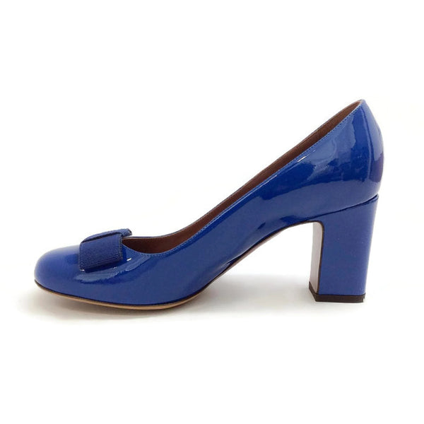 Flora Pump Navy Patent by Tabitha Simmons inside