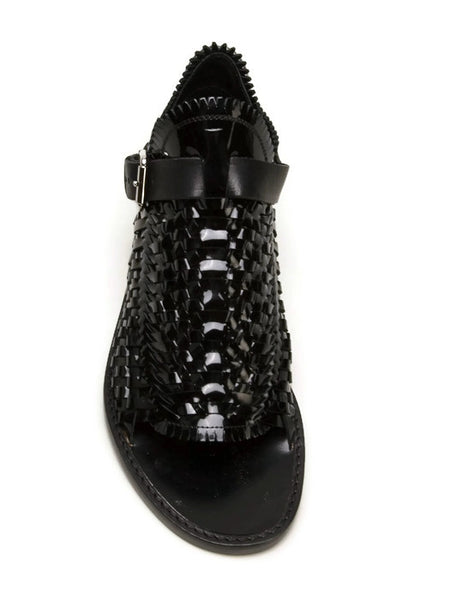 Woven Black Patent Sandal by Proenza Schuler top