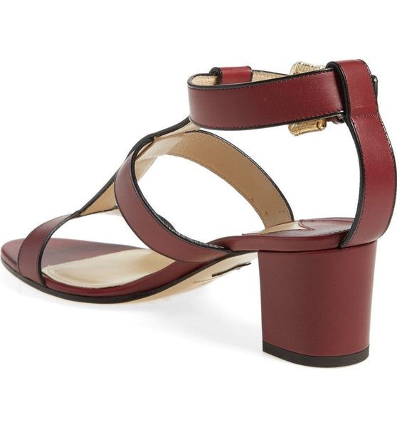 Salma Prune Sandals by Paul Andrew back angle