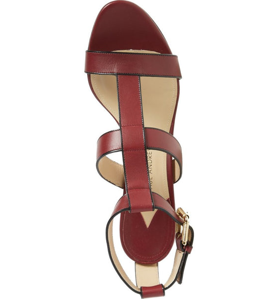 Salma Prune Sandals by Paul Andrew top
