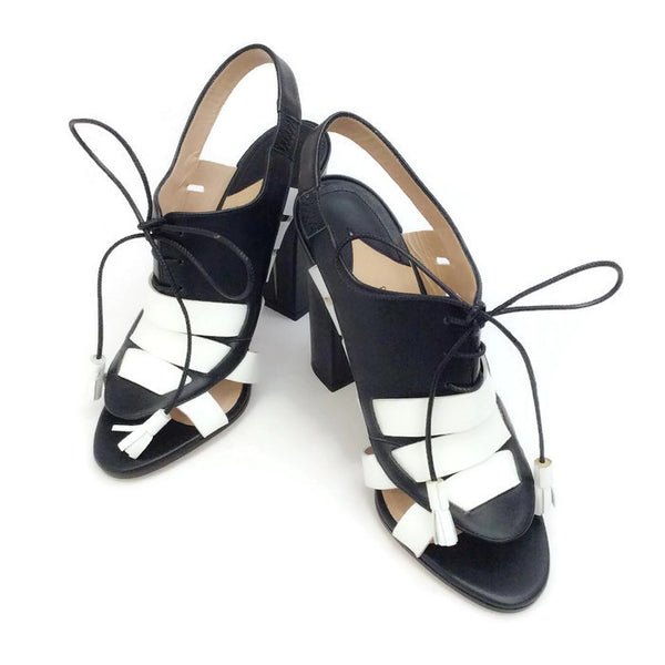 Dimitros Black / White Pumps by Paul Andrew pair