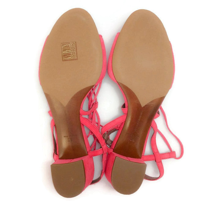 Lori Raspberry Lace Up Sandal by Tabitha Simmons 39