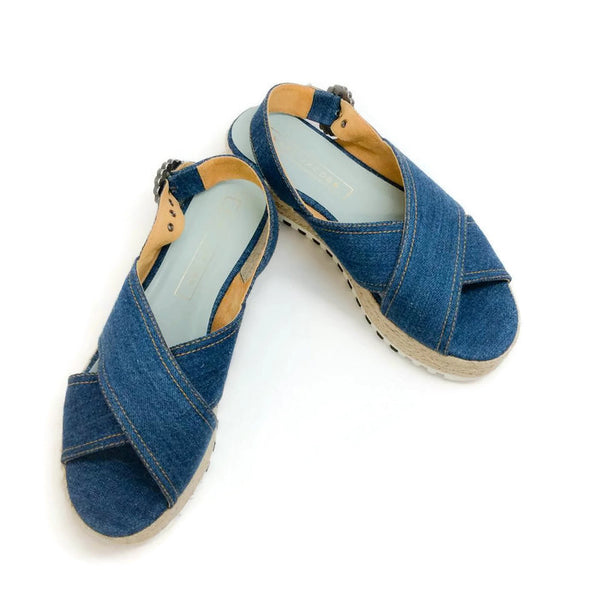 Criss Cross Denim Sandals by Marc Jacobs pair