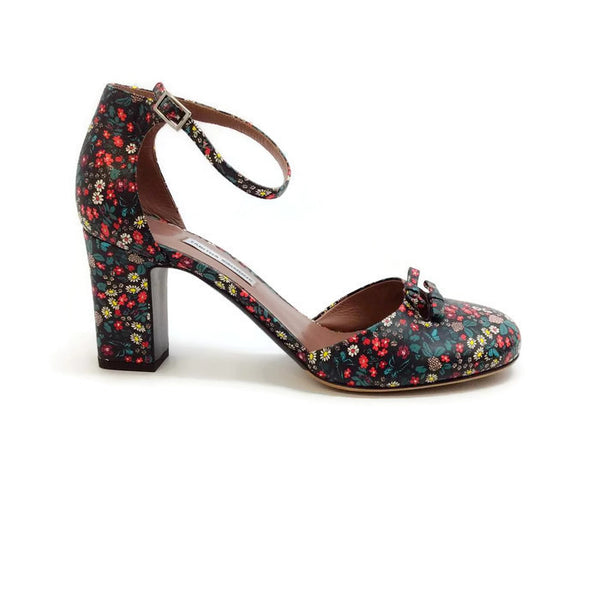 Amelia Multi Floral Sandals by Tabitha Simmons outside