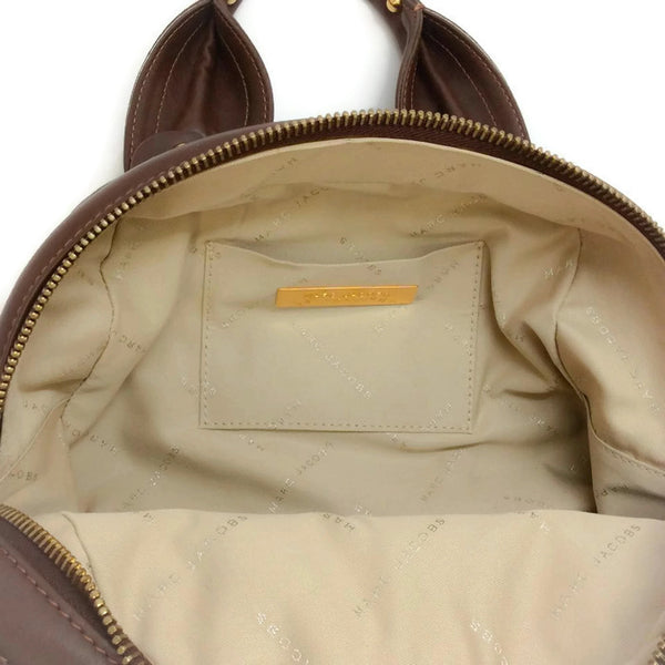 Bowling Bag Brown by Marc Jacobs interior logo