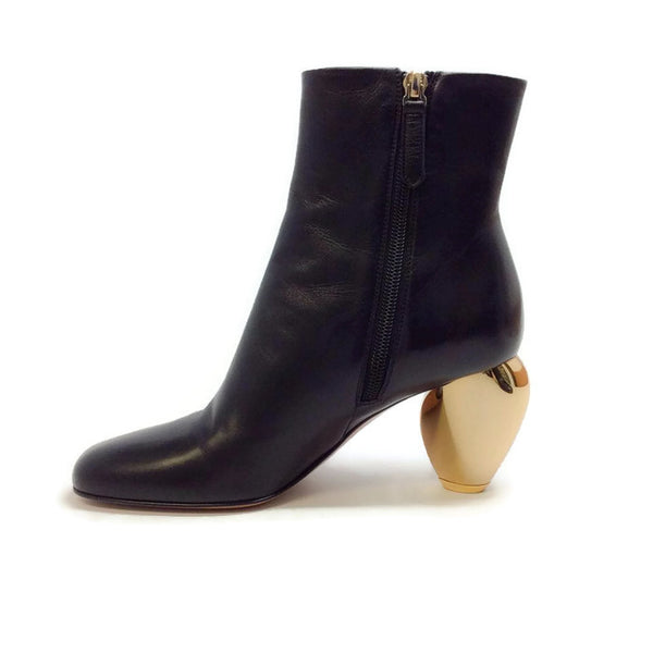 Gold Heel Bootie by Valentino inside