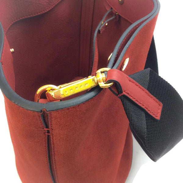 Bucket Tote Port Red by Marni hardware