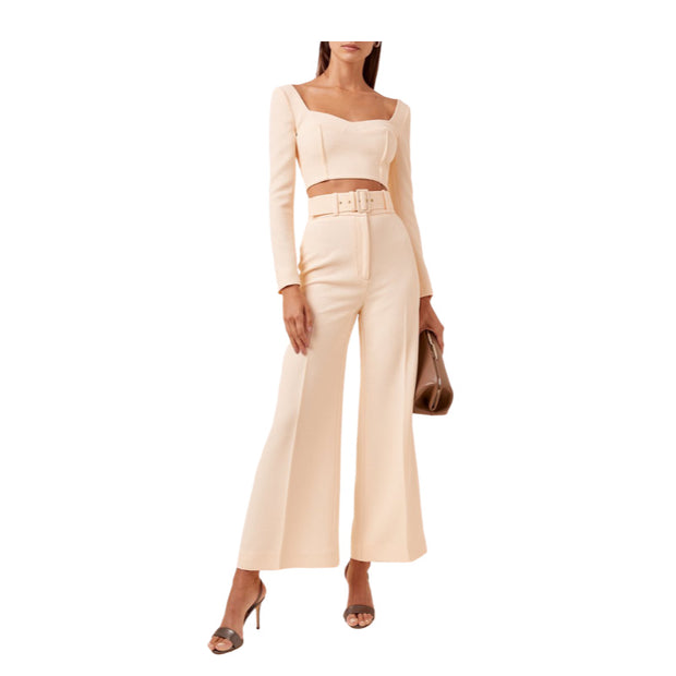 Emilia Wickstead Peach Jules + Jana Crepe Set