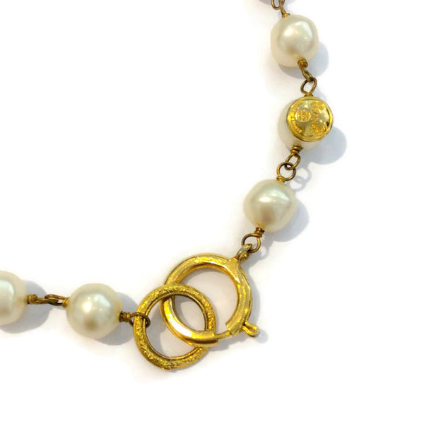 Vintage Pearl Necklace by Chanel clasp