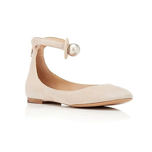 Cream Puff Ballet Flats by Chloe
