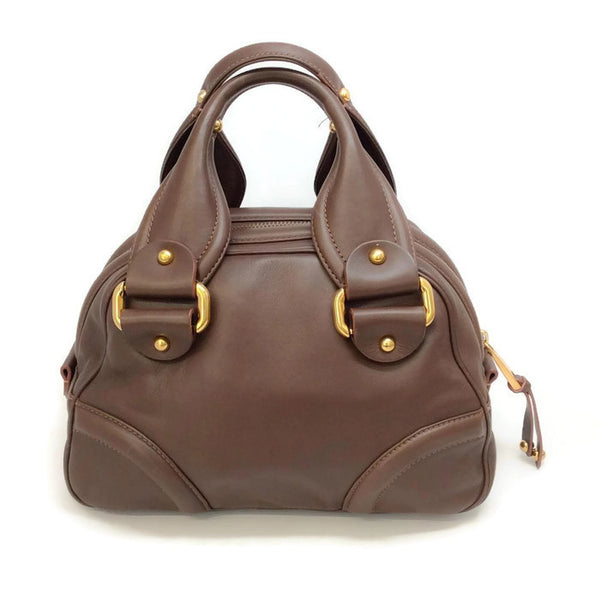 Bowling Bag Brown by Marc Jacobs back
