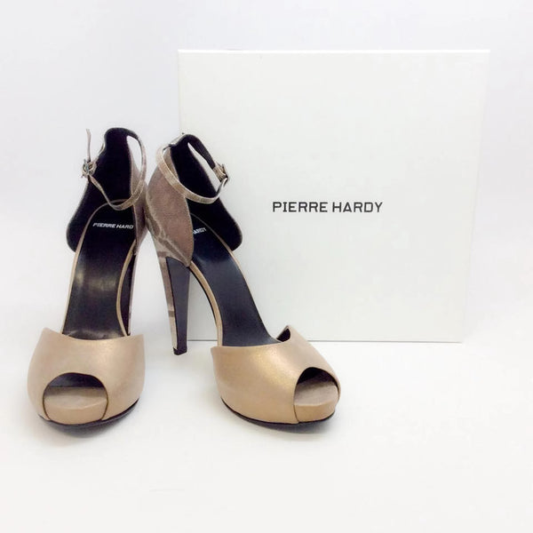 Snake Bronze Platforms by Pierre Hardy with box
