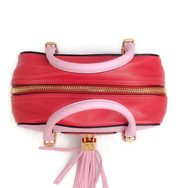 Pink Tassel Satchel by Moschino top