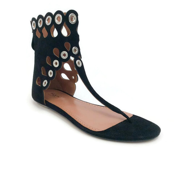 Cut Out Grommet Sandals by Alaïa
